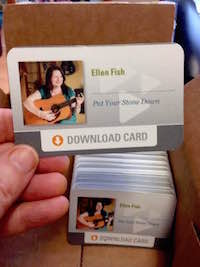ellen mary fish; music; songs; download card